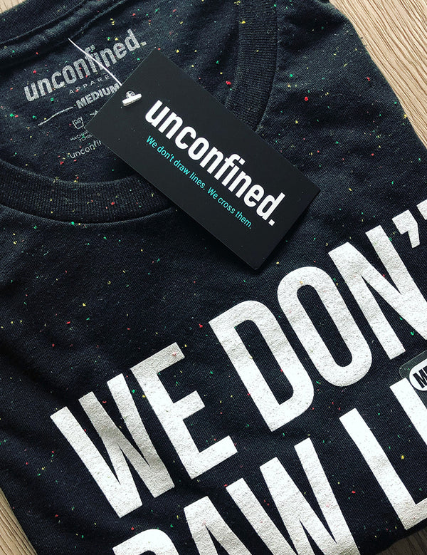 Tagline Tee - Black Speckled - Unconfined. Apparel