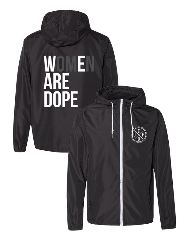 Women Are Dope Windbreaker Jacket (unisex) - Unconfined. Apparel