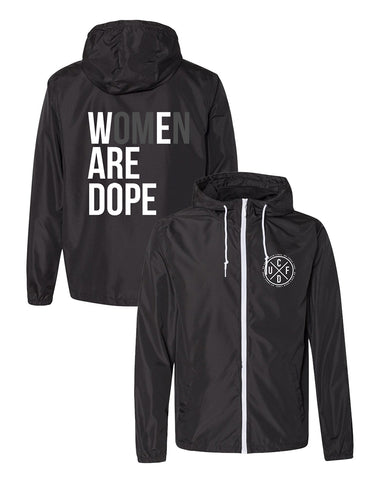 Women Are Dope Windbreaker Jacket (unisex)