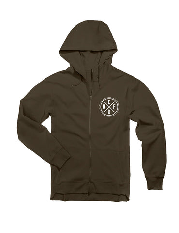 Full Zip Performance Fleece Hoodie - Olive (unisex)
