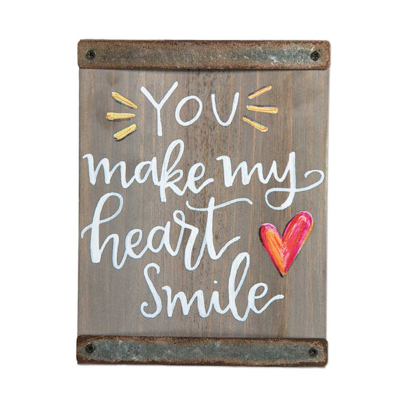 Block Sign Decor - You Make My Heart Smile
