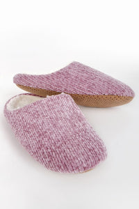 Chenille Slippers ~ Rose