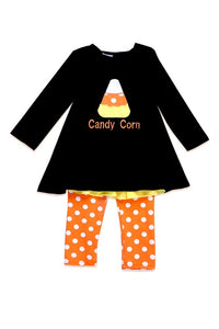 Girls Halloween Set Candy Corn