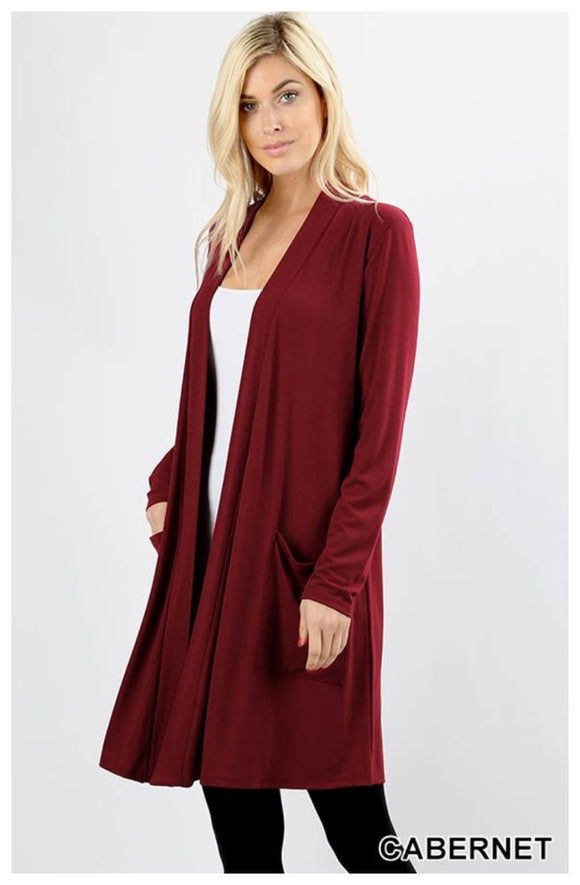 Fall Cardigan ~ Cabernet
