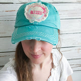 Cap - Blessed - Turquoise