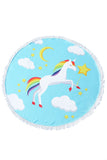 UNICORN BEACH TOWEL - RAINBOW
