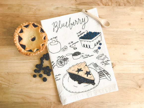 Tea Towel - Blueberry Pie