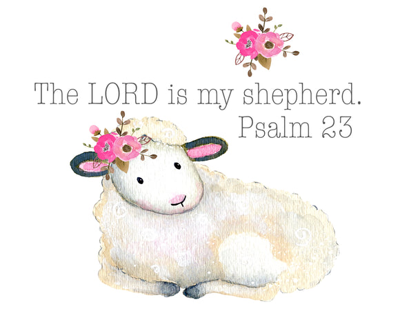 Wall Print ~ The Lord is my shepherd.