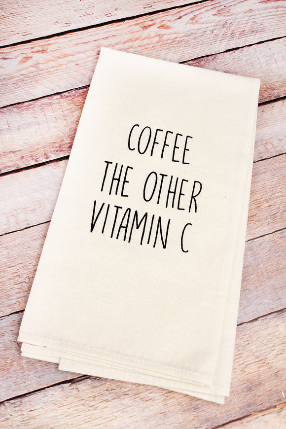 Tea Towel ~ Coffee The Other Vitamin C