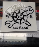 Small SoCal Compass Sticker