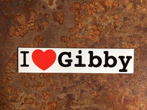 I Heart Gibby Sticker