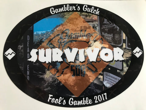 Gambler's Gulch Survivor Sticker