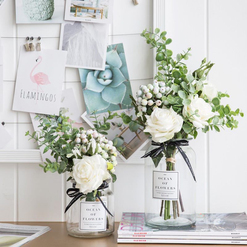 Artificial Flower Bouquet With Vase Myhome Living Com