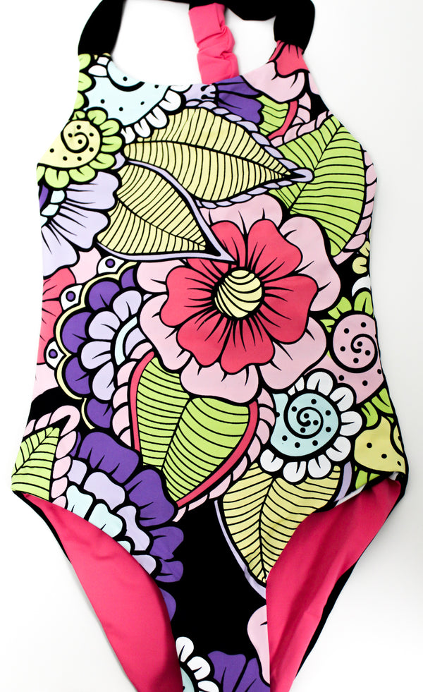 Girls Paradise Garden Reversible U One Piece - Wavelife