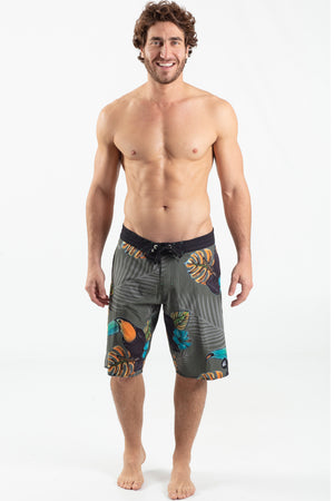 "Toucan Jungle 21"" Elastic Waist Boardshort - Wavelife"