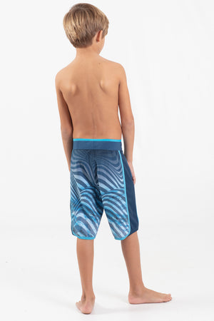 "Boys 17"" Scalloped Hem Volley Short - Wavelife"