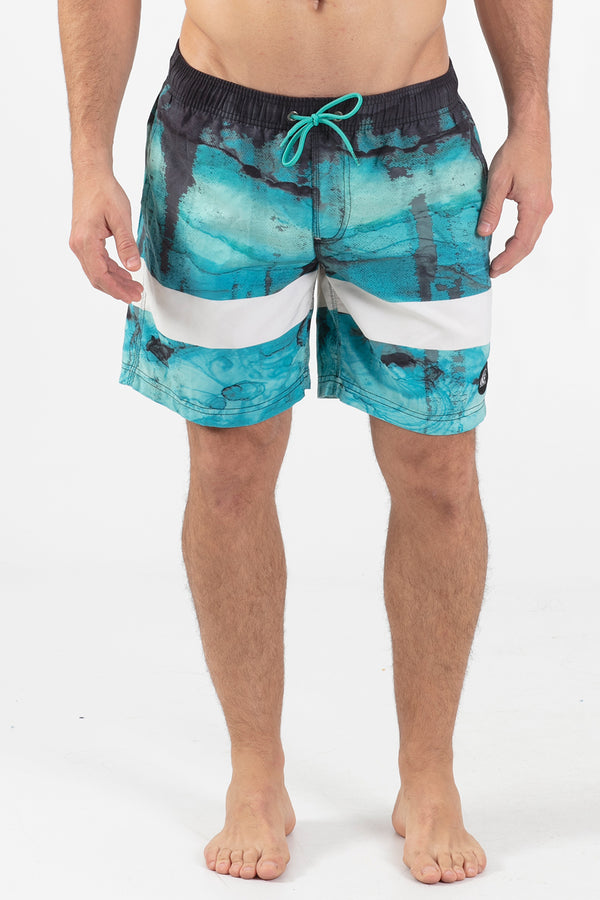 "Cosmic 17"" Elastic Waist Volley Short - Wavelife"