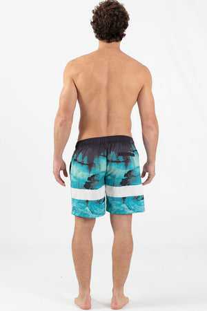 "COSMIC 17"" ELASTIC WAIST VOLLEY SHORT"