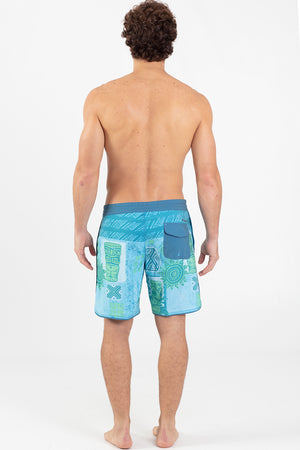 "LONO 17"" Scalloped Hem Boardshort - Wavelife"