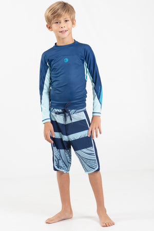 "Boys Fade Wave 17"" Scalloped Hem Volley Short - Wavelife"