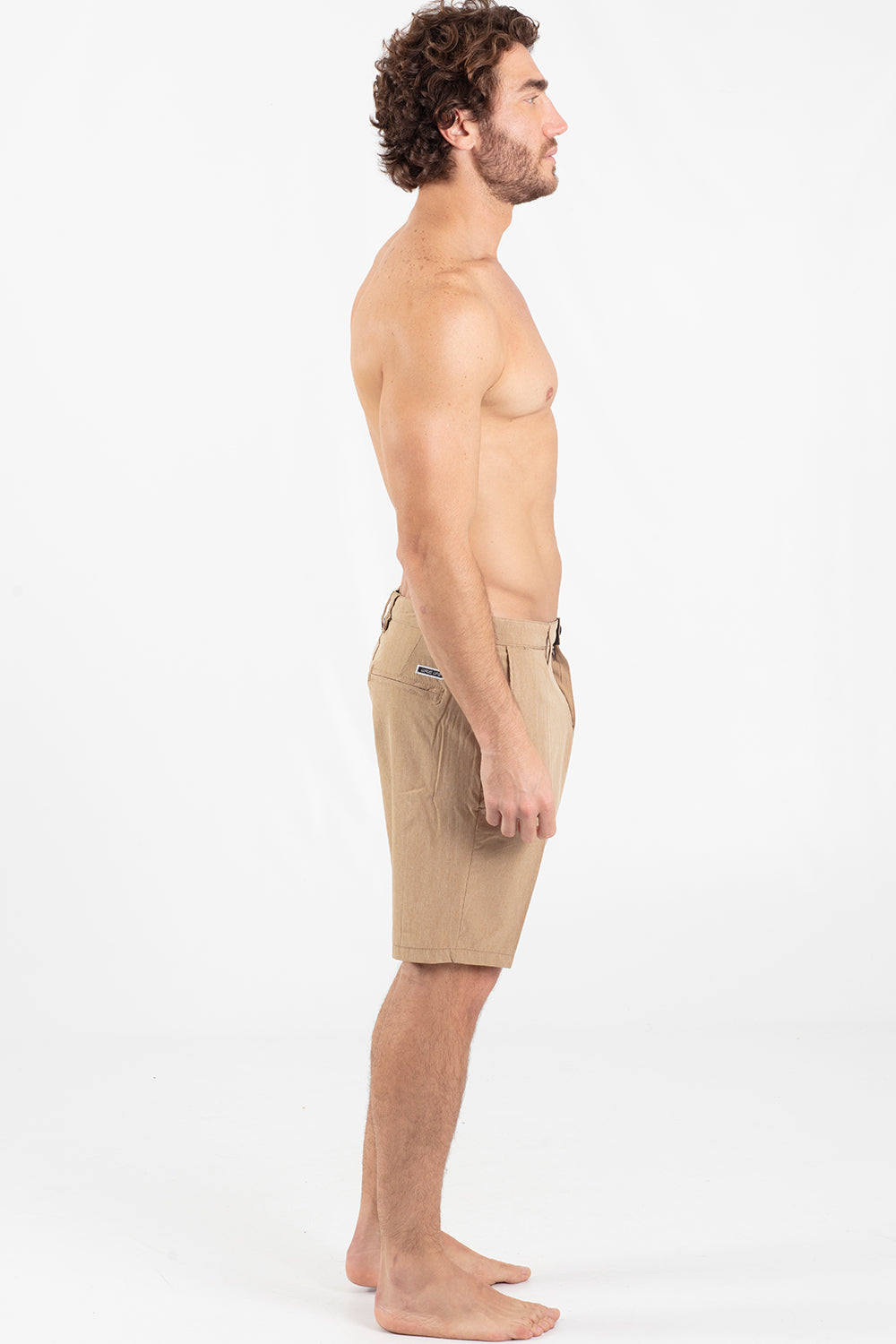 "Tom 20"" Hybrid Walking Short Khaki - Wavelife"