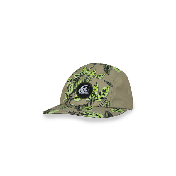 Leafy 5 Panel Cap Lime - Wavelife