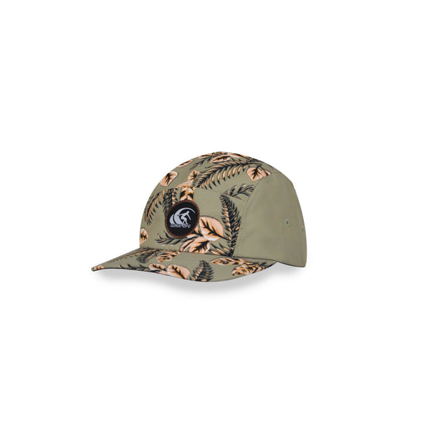 LEAFY 5 PANEL CAP ORANGE