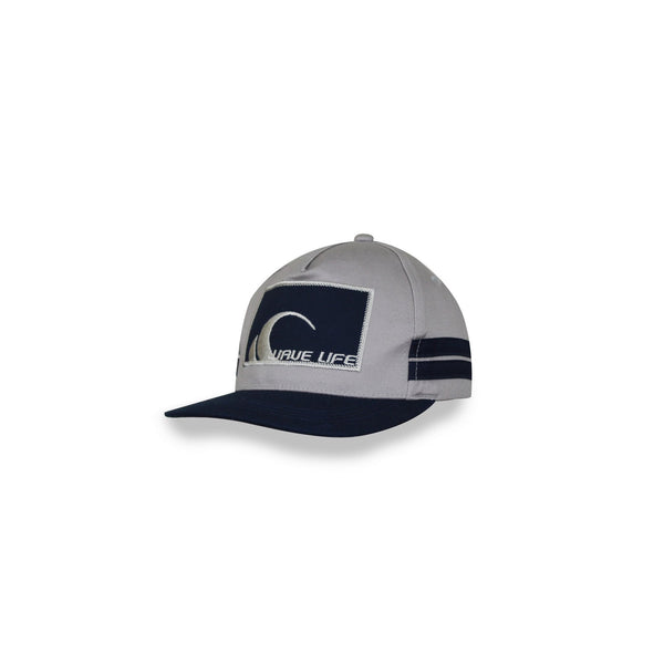 Puff Block Logo Navy - Wavelife