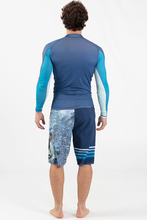 Long Sleeve Rashguard Blue - Wavelife