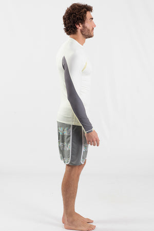 Long Sleeve Rashguard White - Wavelife