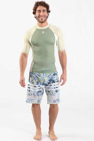Short Sleeve Rashguard Green - Wavelife
