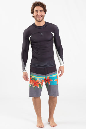 Long Sleeve Rashguard Black - Wavelife