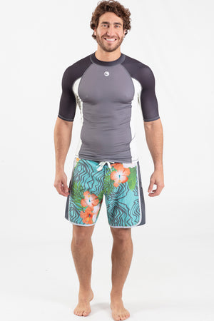 Short Sleeve Rashguard Grey - Wavelife