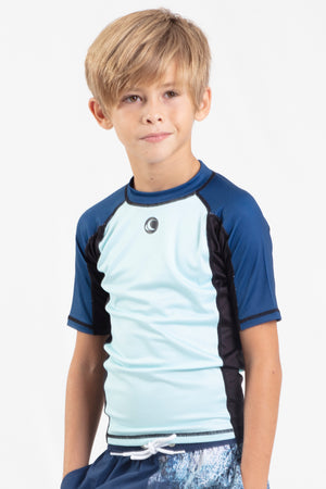 Boys Short Sleeve Performance Rashguard
