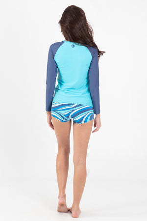 Aqua Spray Zipper Rashguard - Wavelife