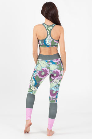 Paradise Garden Reversible Active Racer Back Top