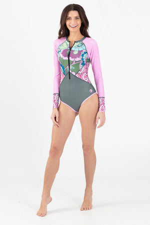 Paradise Garden One Piece Paddle Suit - Wavelife