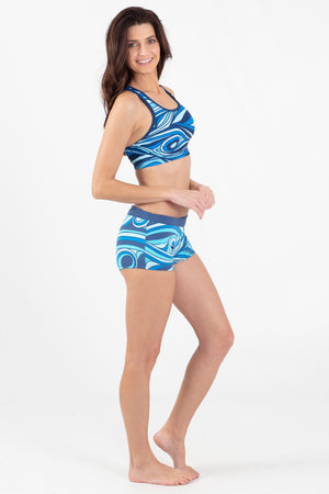 Aqua Spray Reversible Active Racer Back Top