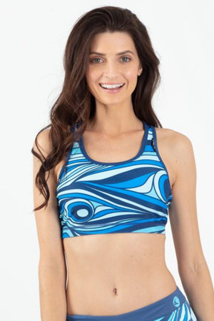 Aqua Spray Reversible Active Racer Back Top - Wavelife