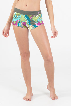 Paradise Garden Reversible Boyshort - Wavelife