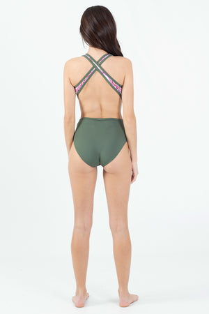Paradise Garden Halter One Piece - Wavelife