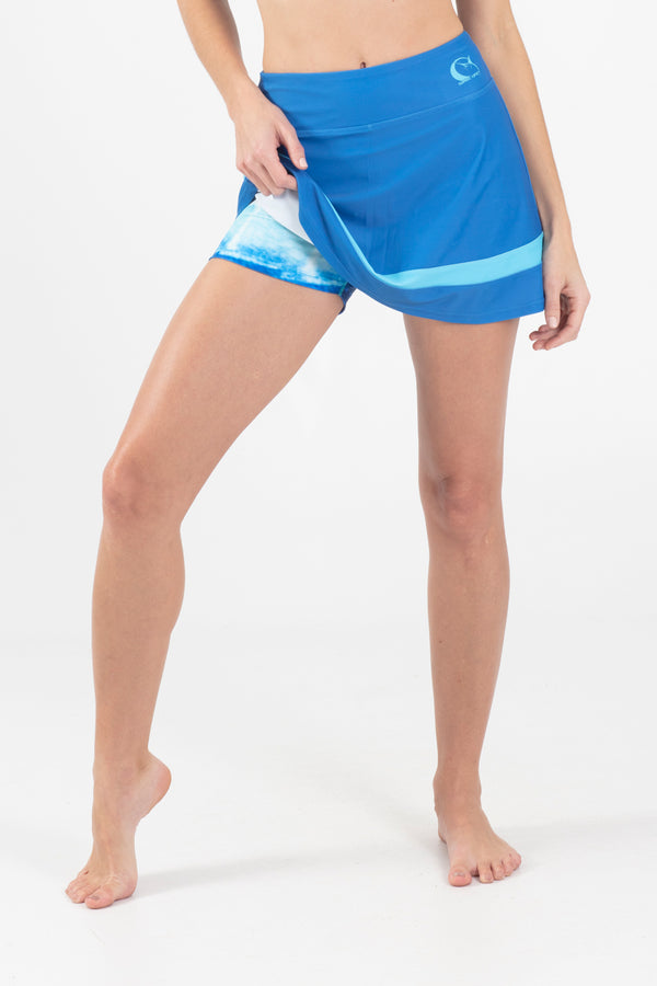 Blue Marlin Active pieced Skort