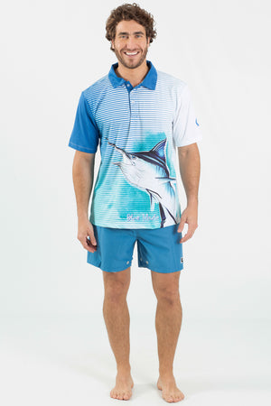 Blue Marlin Performance fishing polo