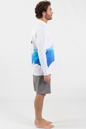 Blue Marlin Performance Long sleeve fishing polo