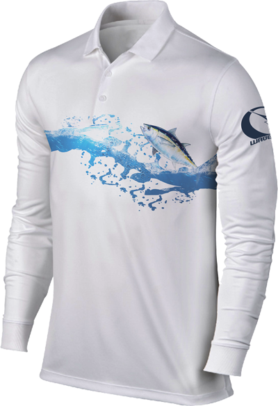 Tuna Long Sleeve Performance fishing polo - Wavelife