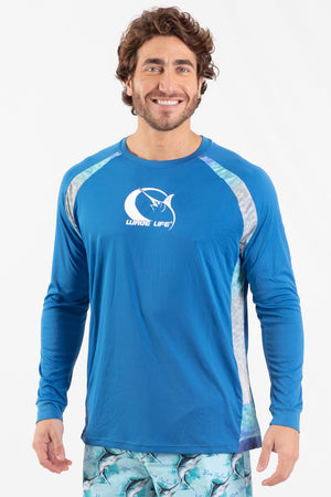 Blue Marlin L/S Performance Top - Wavelife
