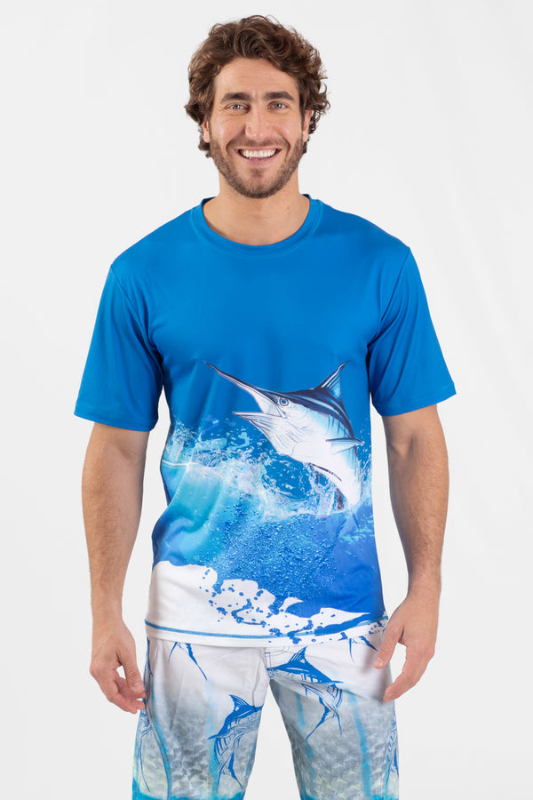 Blue Marlin S/S Performance Top - Wavelife