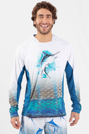 Blue Marlin Performance fishing hoodie