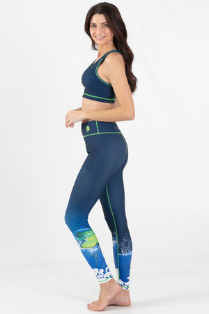 Mahi Mahi Reversible Active Crop Top - Wavelife