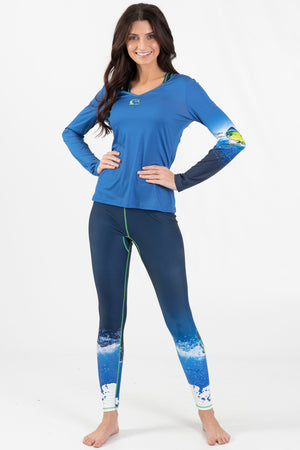 Mahi Mahi Active Long Sleeve V-Neck